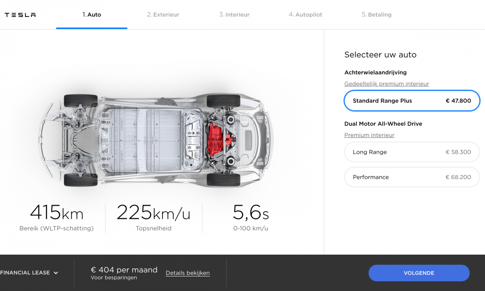 Tesla Model 3 Standaard Range Plus